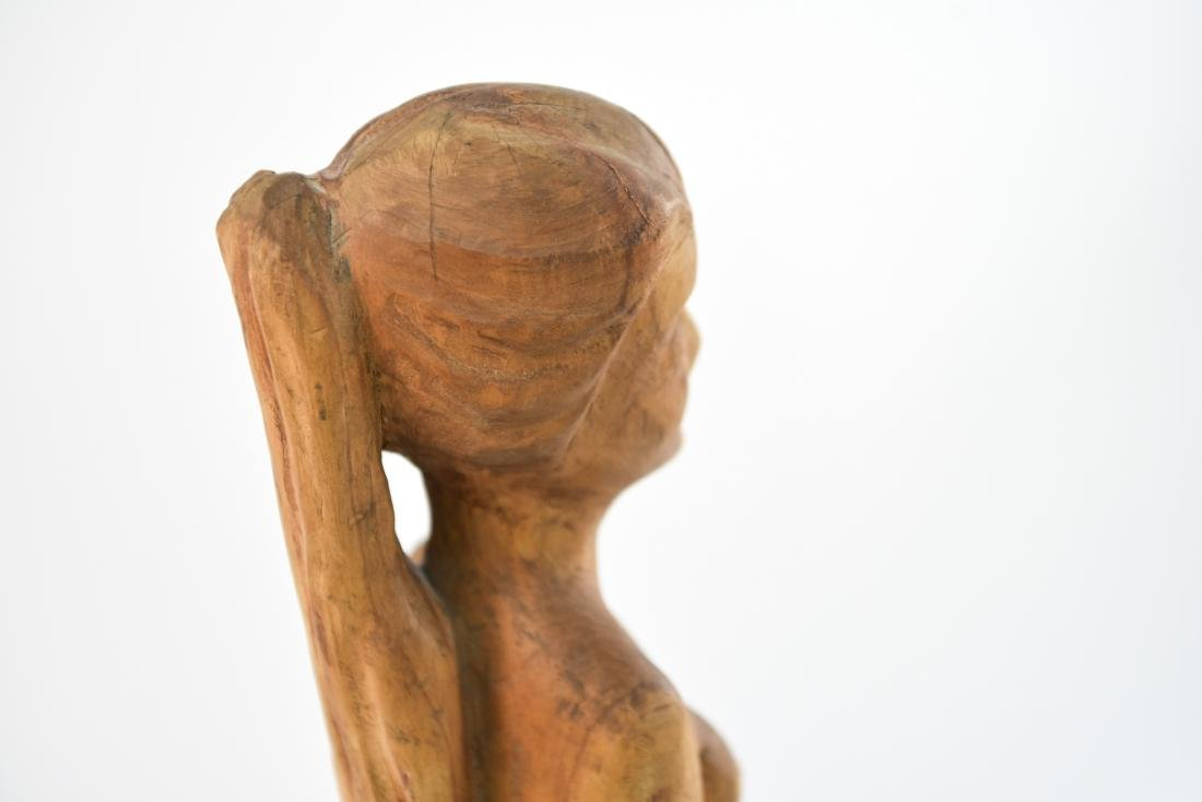 CARVED WOOD NUDE SCULPTURE - 8