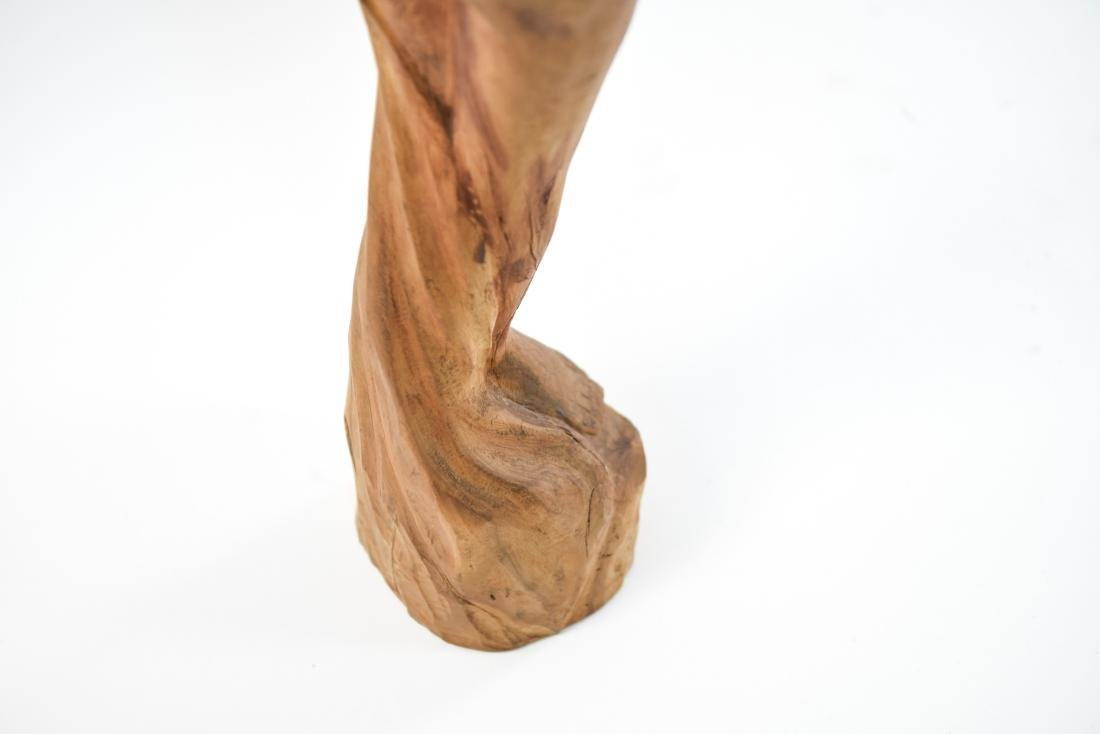 CARVED WOOD NUDE SCULPTURE - 9