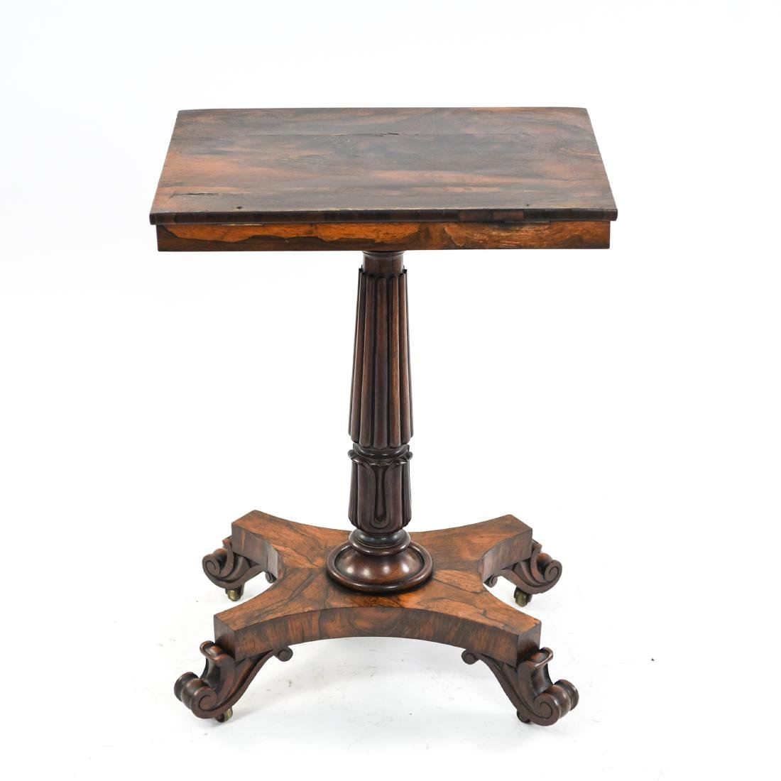 19TH C. REGENCY ROSEWOOD MANUSCRIPT STAND