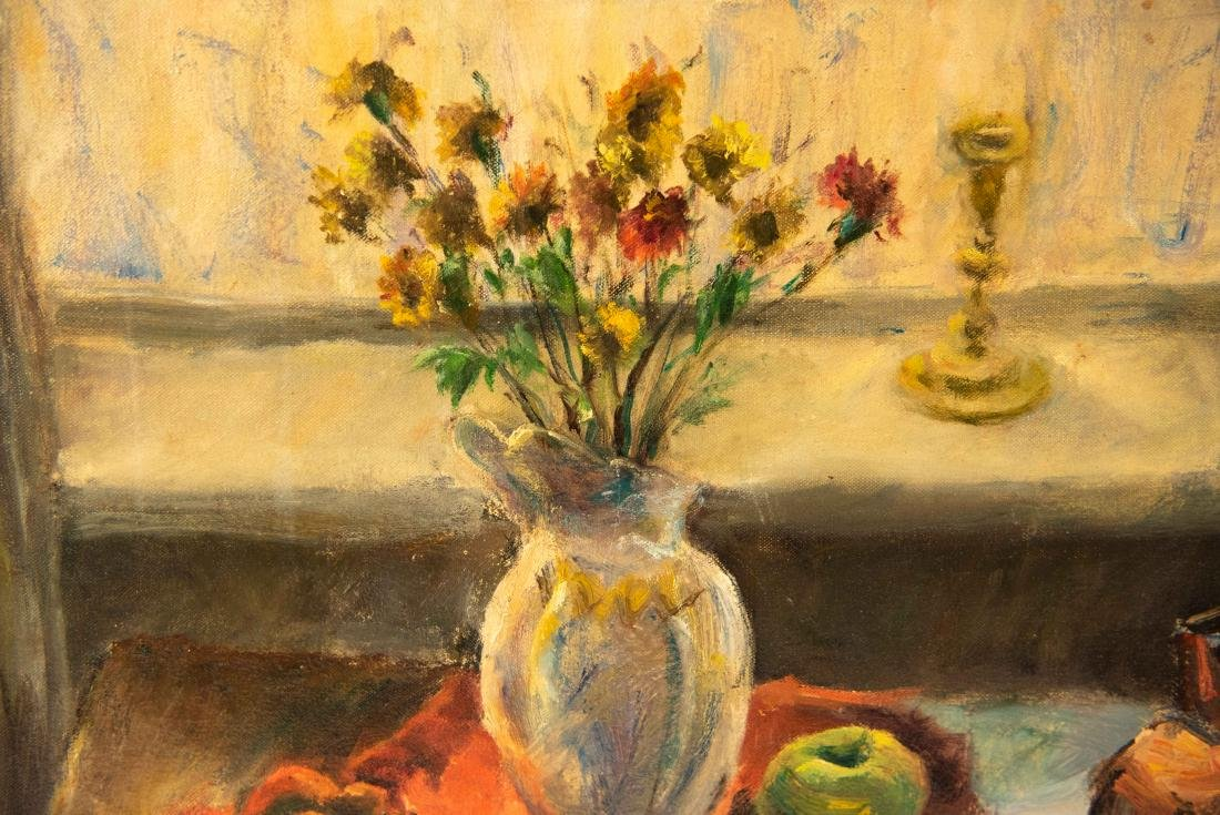 PAULINE SILVER OIL ON CANVAS STILL LIFE PAINTING - 4