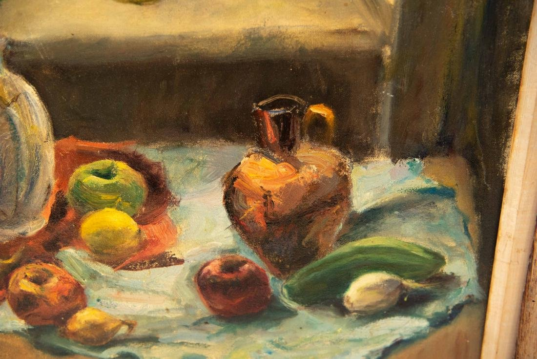 PAULINE SILVER OIL ON CANVAS STILL LIFE PAINTING - 5