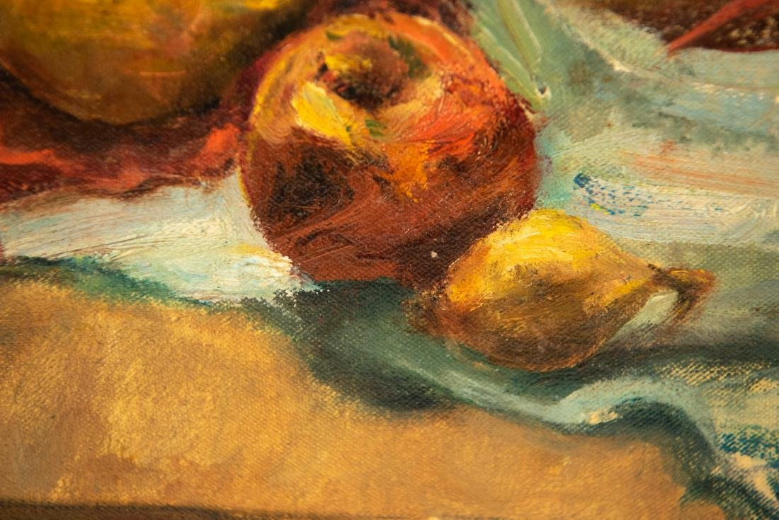 PAULINE SILVER OIL ON CANVAS STILL LIFE PAINTING - 7