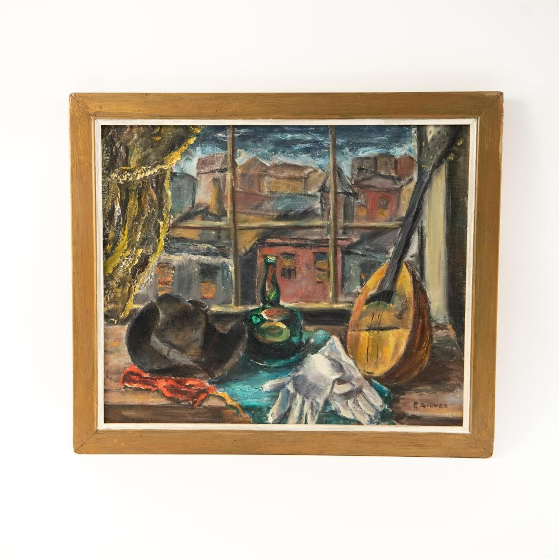 PAULINE SILVER OIL ON CANVAS STILL LIFE PAINTING