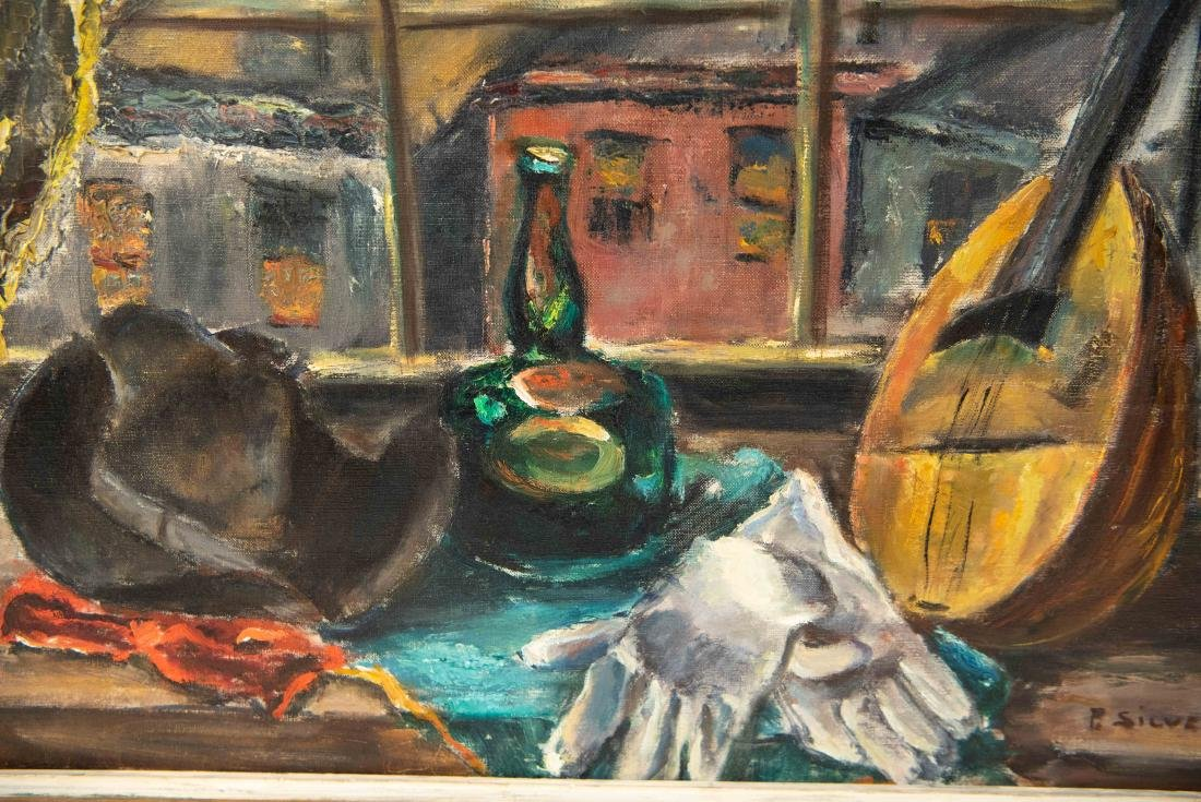 PAULINE SILVER OIL ON CANVAS STILL LIFE PAINTING - 3