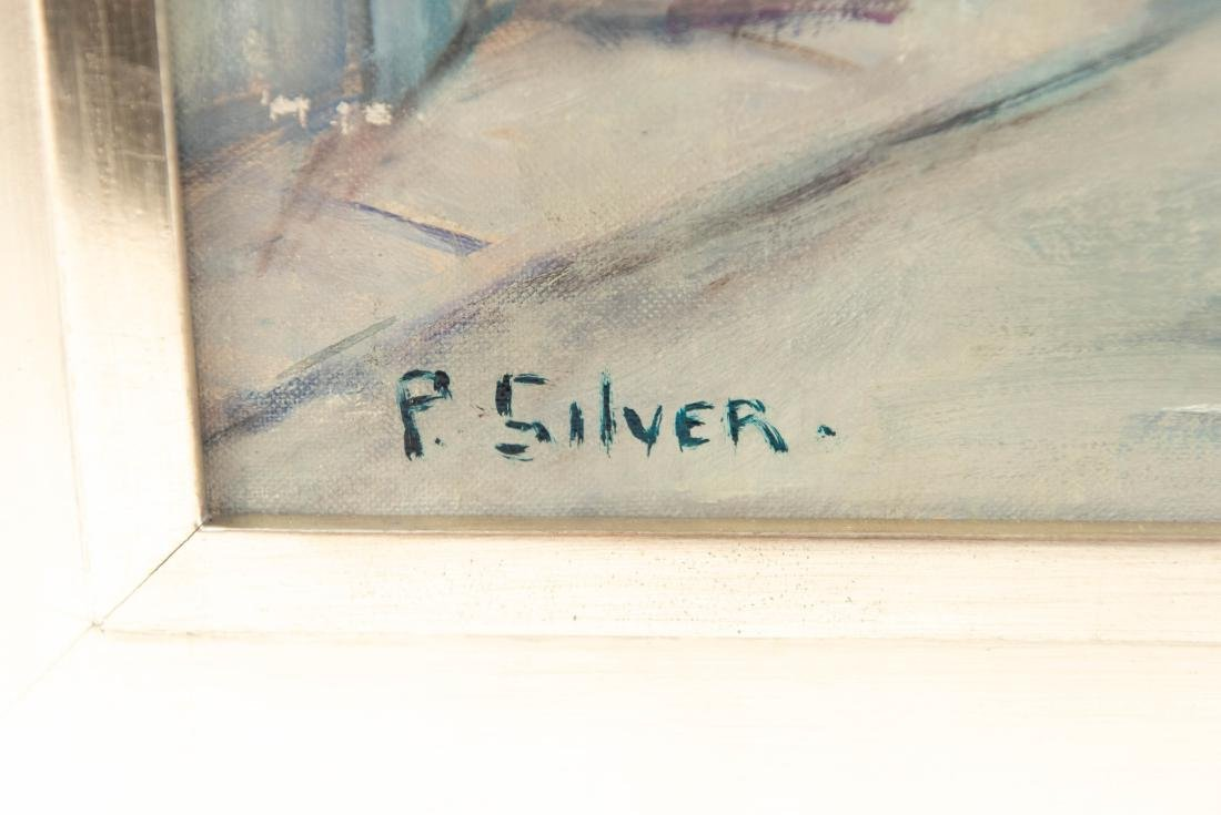 PAULINE SILVER OIL ON BOARD PAINTING - 2
