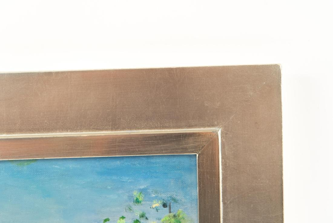 PAULINE SILVER OIL ON BOARD PAINTING - 7