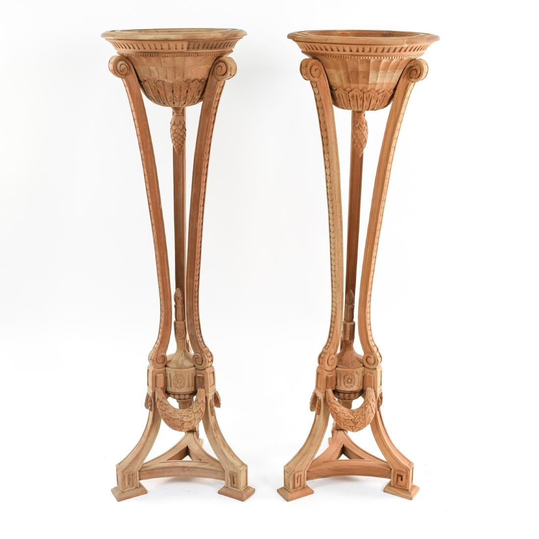 PAIR OF PEDESTAL PLANTERS