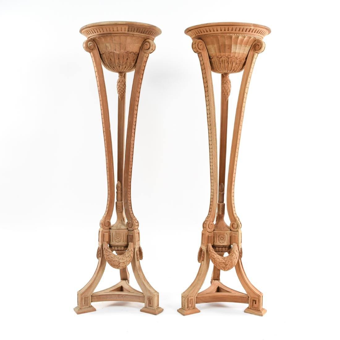 PAIR OF PEDESTAL PLANTERS - 2