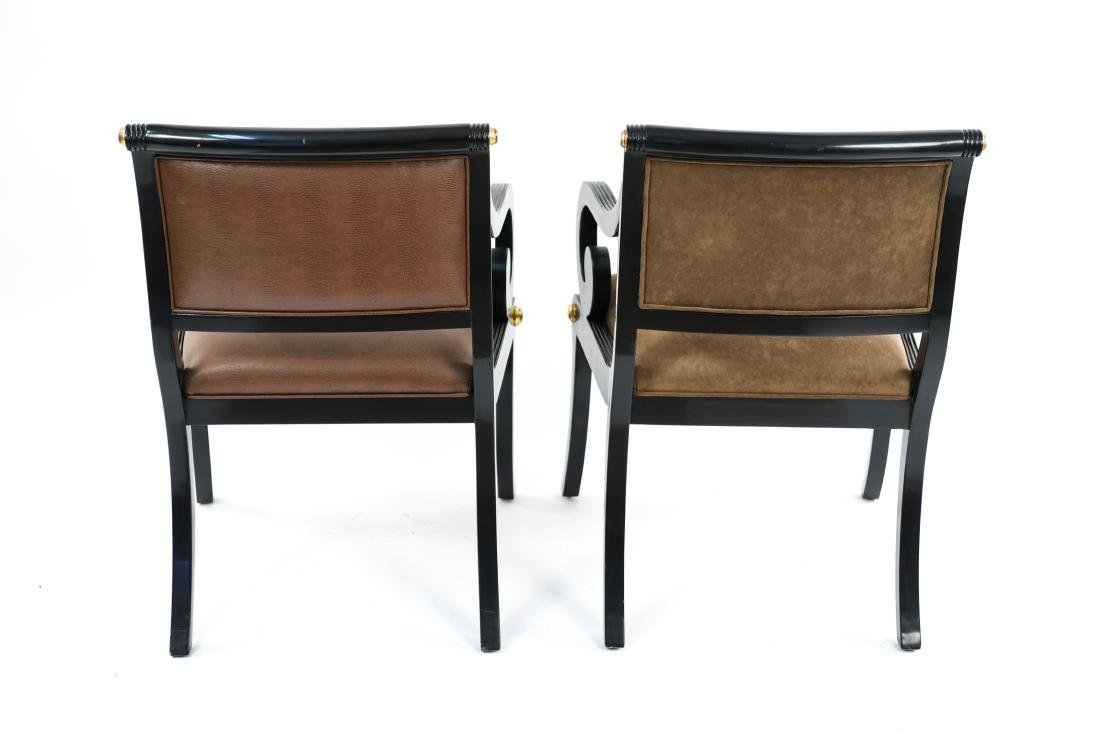 PAIR OF REGENCY STYLE SOLID MAHOGANY CHAIRS - 15