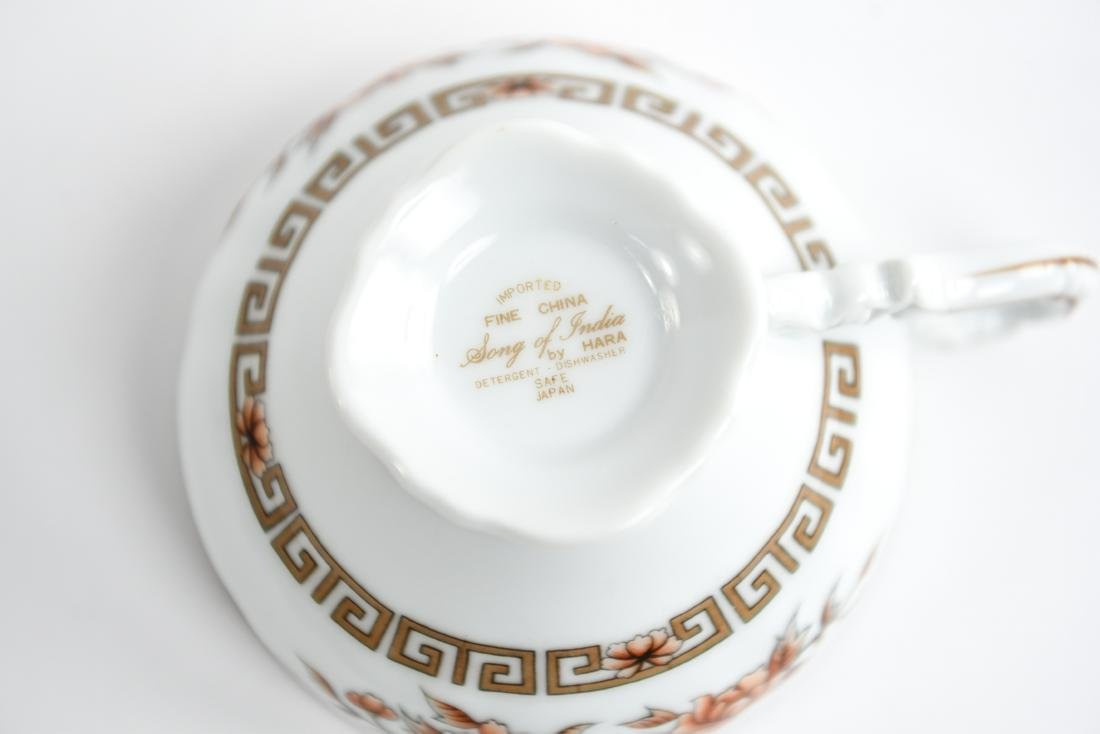 HARA JAPANESE PORCELAIN DINNER SERVICE - 4