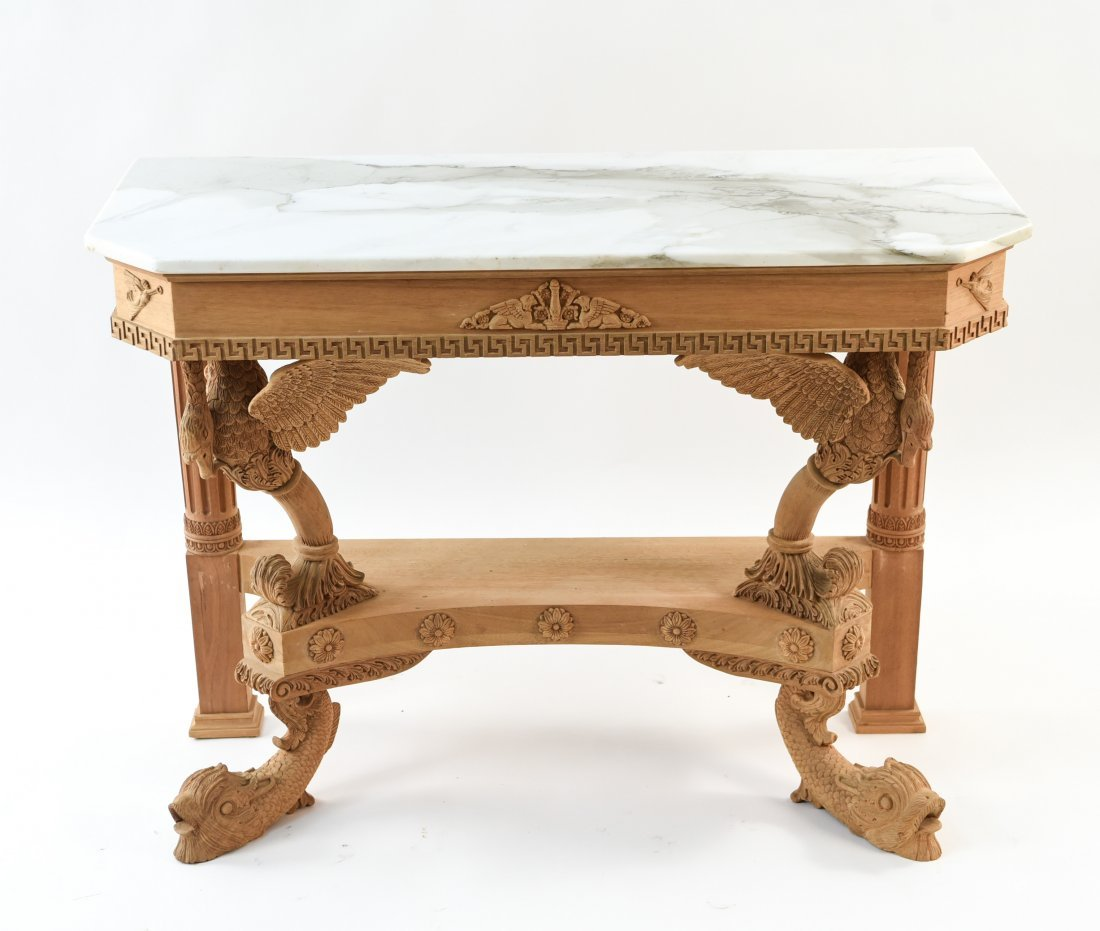 CARVED CONSOLE TABLE BASE