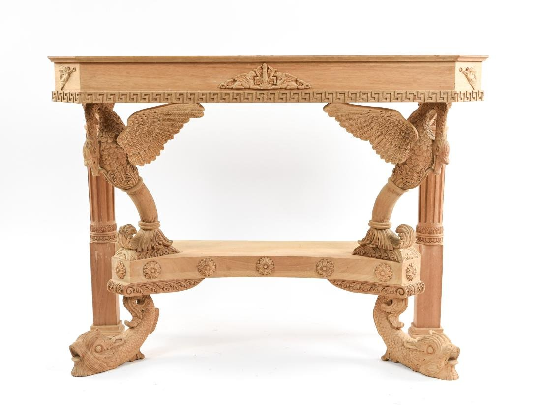 CARVED CONSOLE TABLE BASE - 2