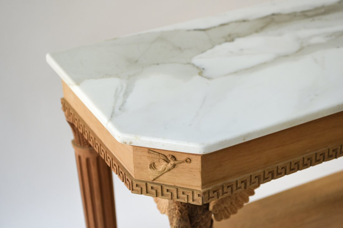 CARVED CONSOLE TABLE BASE - 4
