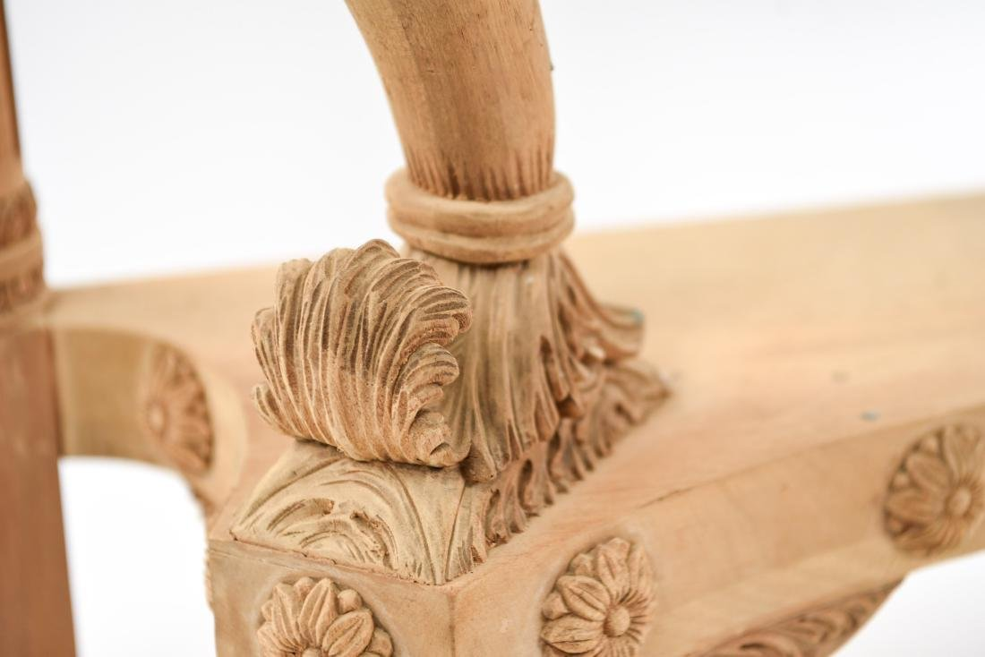 CARVED CONSOLE TABLE BASE - 7