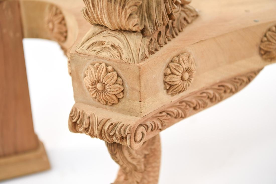CARVED CONSOLE TABLE BASE - 8