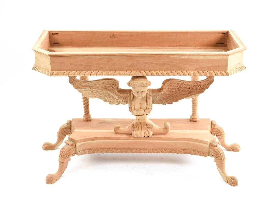 CARVED SPHINX CONSOLE TABLE