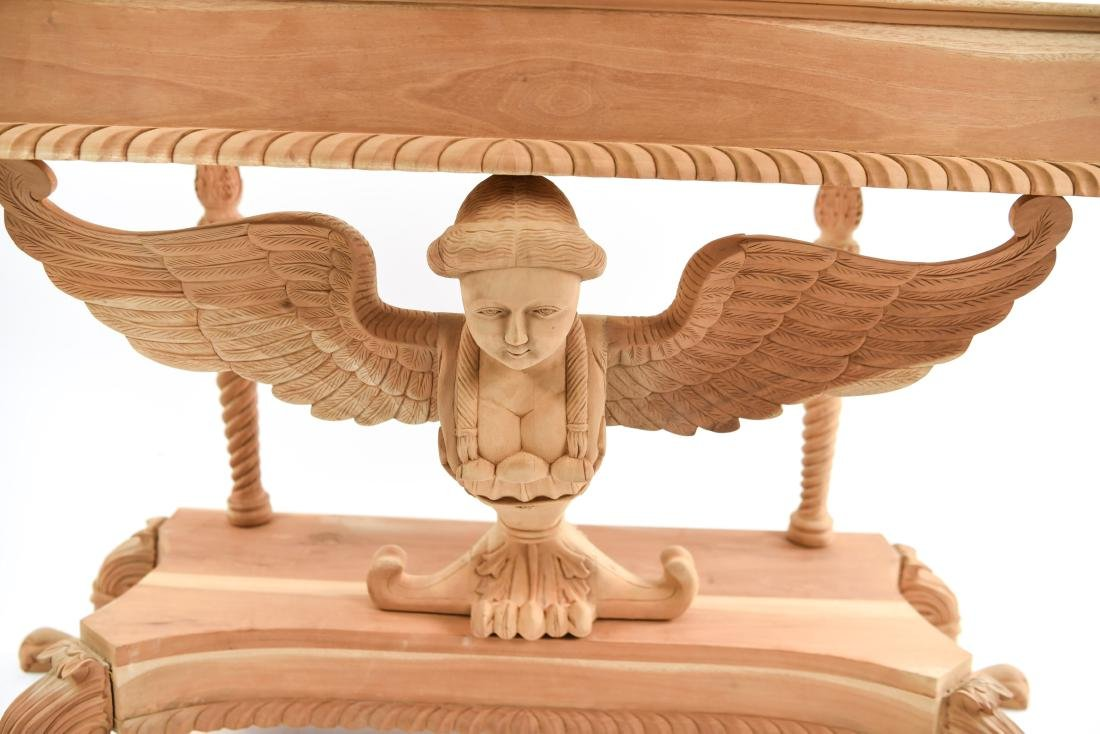CARVED SPHINX CONSOLE TABLE - 3