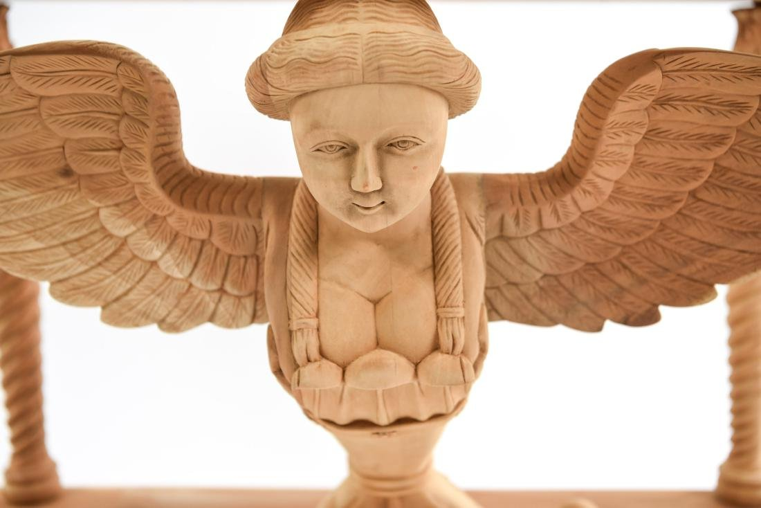CARVED SPHINX CONSOLE TABLE - 4