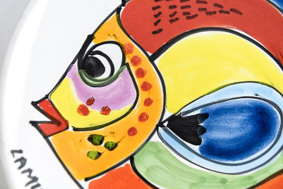 (12) ITALIAN CERAMIC LAMUSA PAINTED FISH PLATES - 10