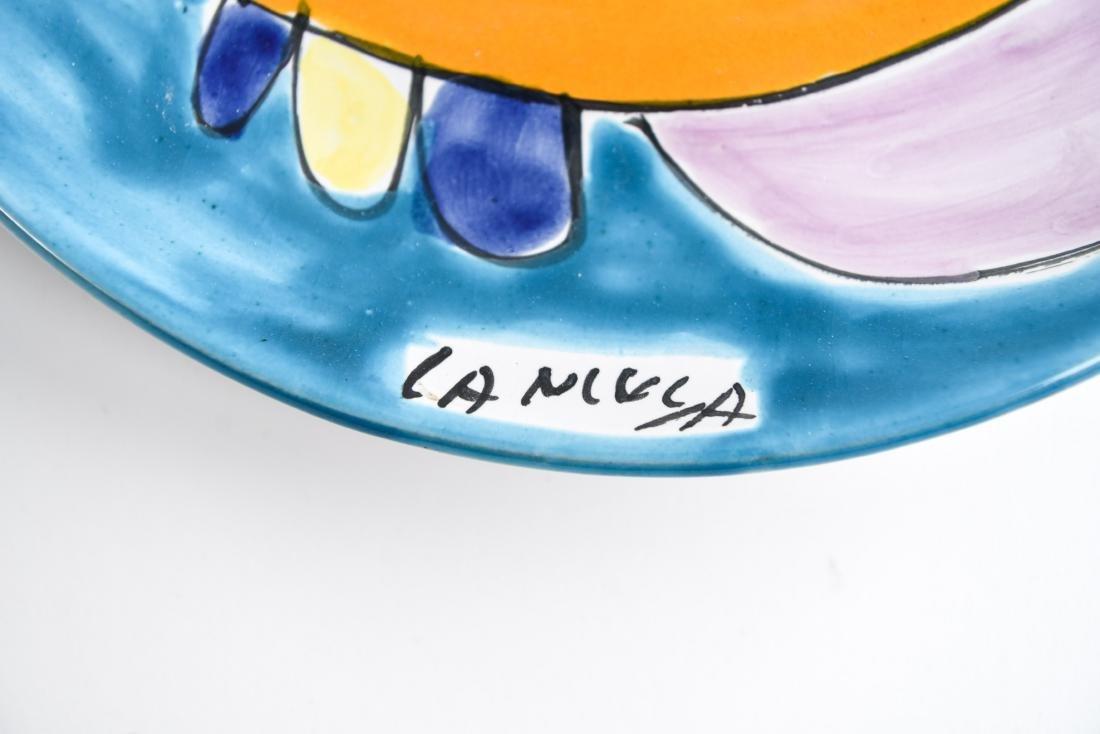 (12) ITALIAN CERAMIC LAMUSA PAINTED FISH PLATES - 3