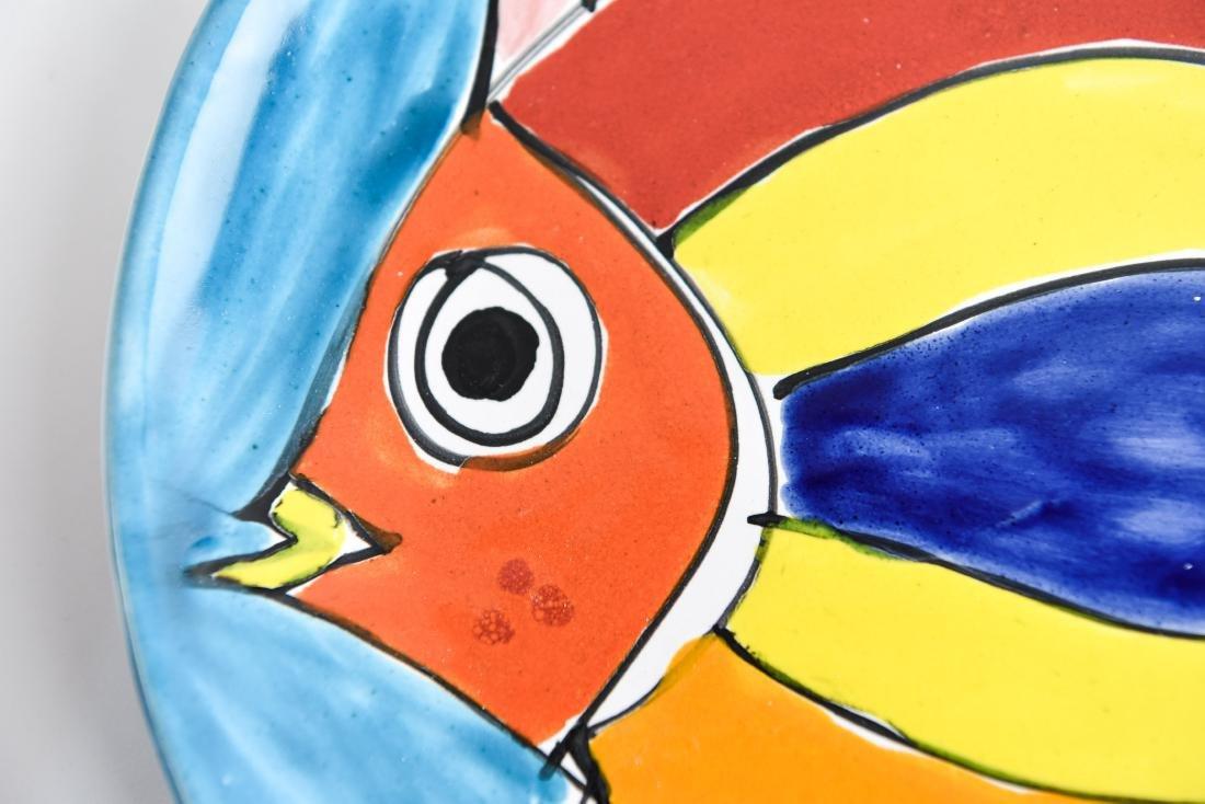 (12) ITALIAN CERAMIC LAMUSA PAINTED FISH PLATES - 4