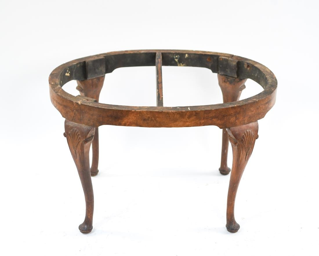 CARVED QUEEN ANNE STYLE SEAT OR BENCH - 2