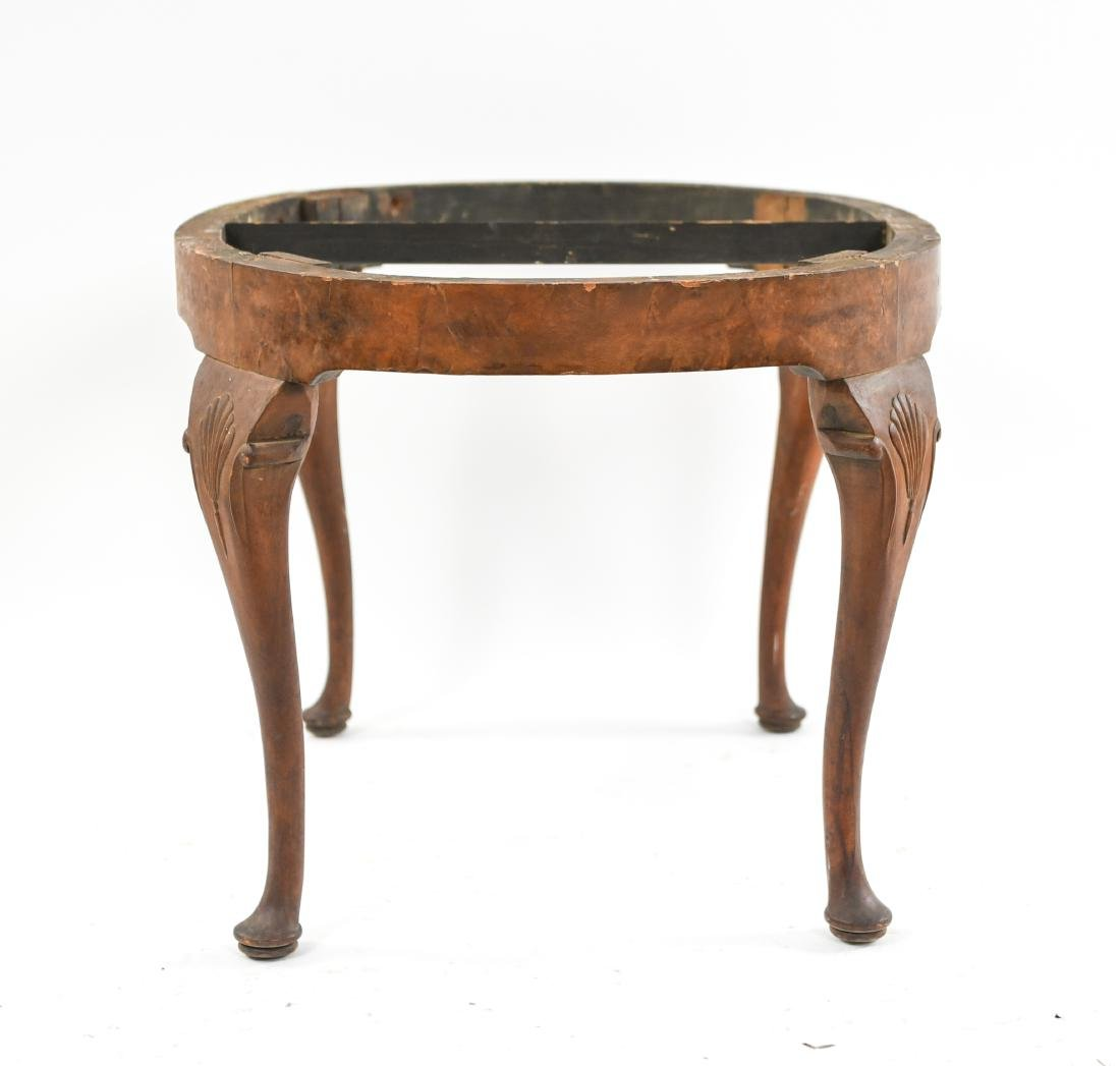 CARVED QUEEN ANNE STYLE SEAT OR BENCH - 8