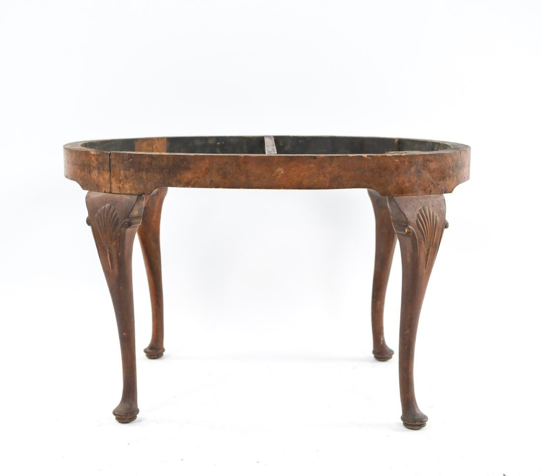 CARVED QUEEN ANNE STYLE SEAT OR BENCH - 9