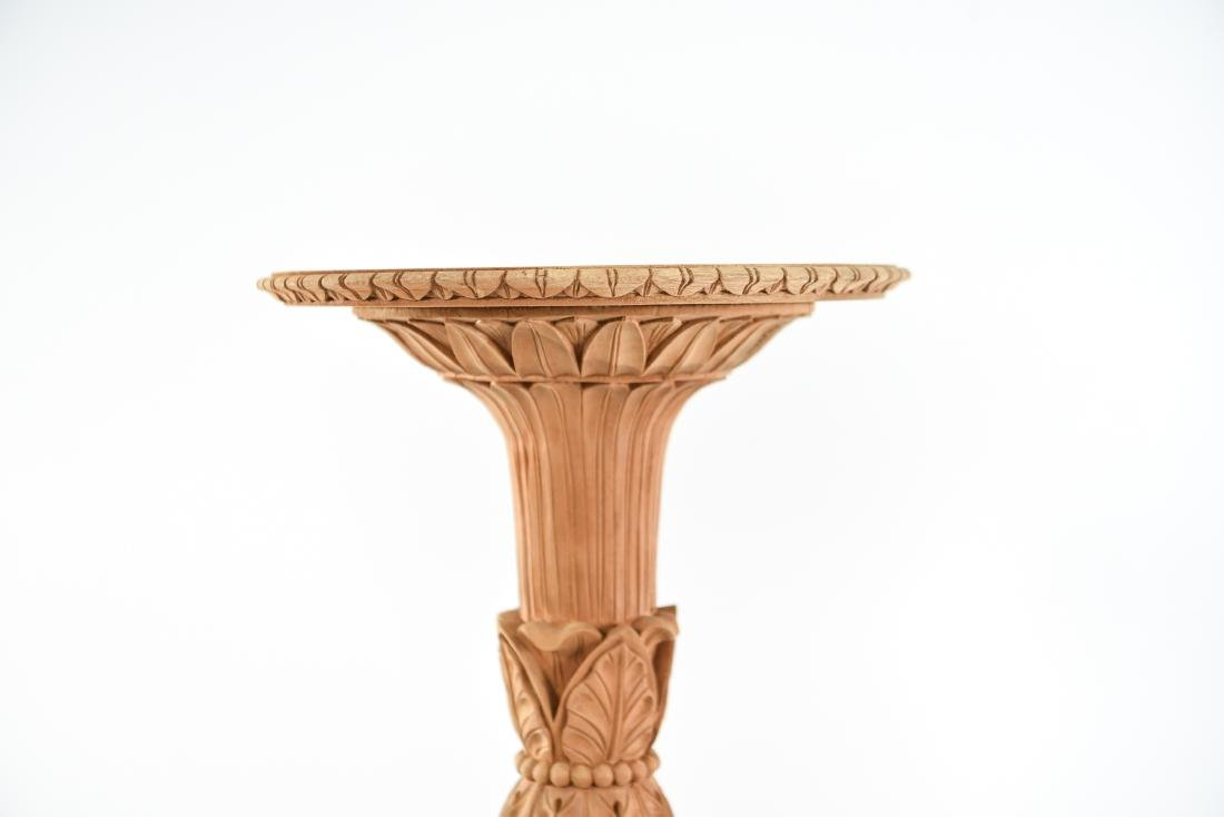 PAIR OF CARVED PEDESTAL STANDS - 2