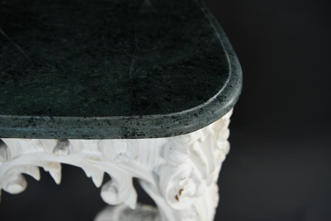 ITALIAN CARVED MARBLE TOP CONSOLE - 10