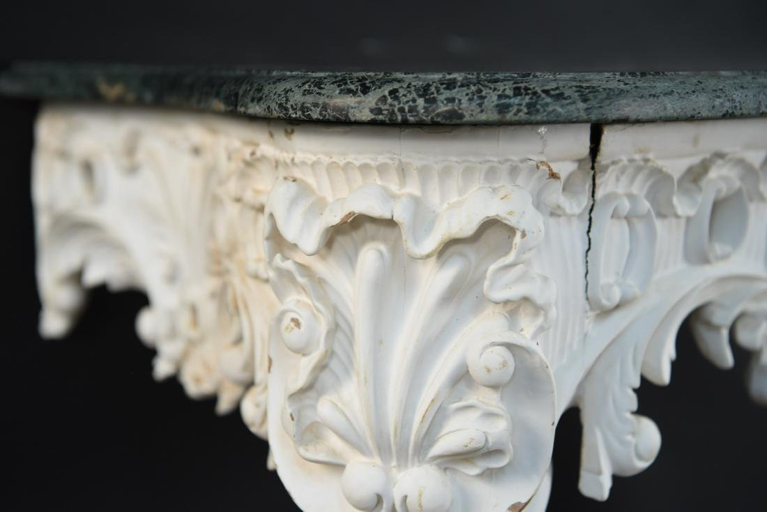 ITALIAN CARVED MARBLE TOP CONSOLE - 2
