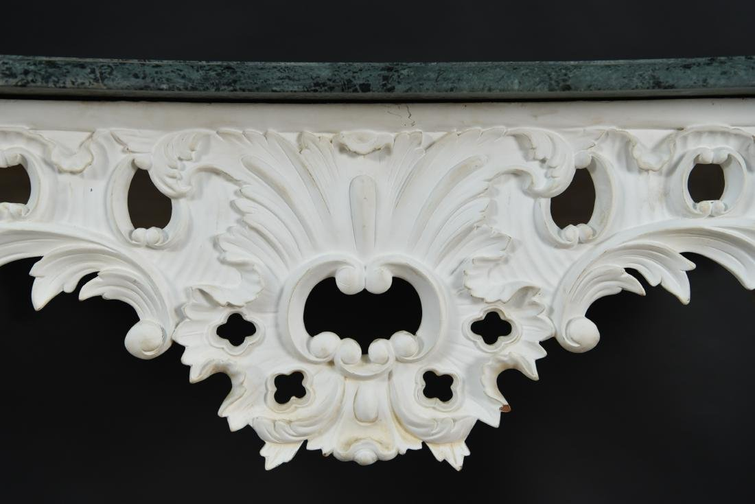 ITALIAN CARVED MARBLE TOP CONSOLE - 6
