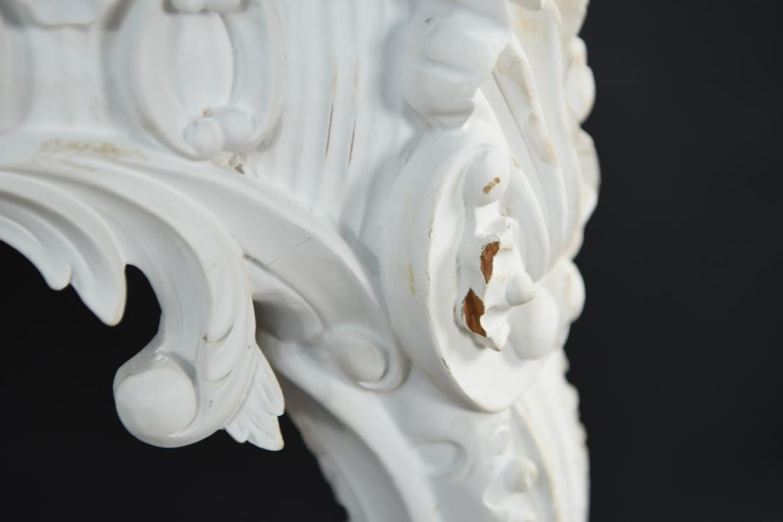 ITALIAN CARVED MARBLE TOP CONSOLE - 7