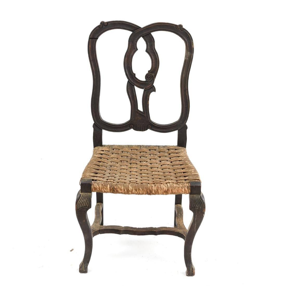 ANTIQUE CARVED SIDE CHAIR
