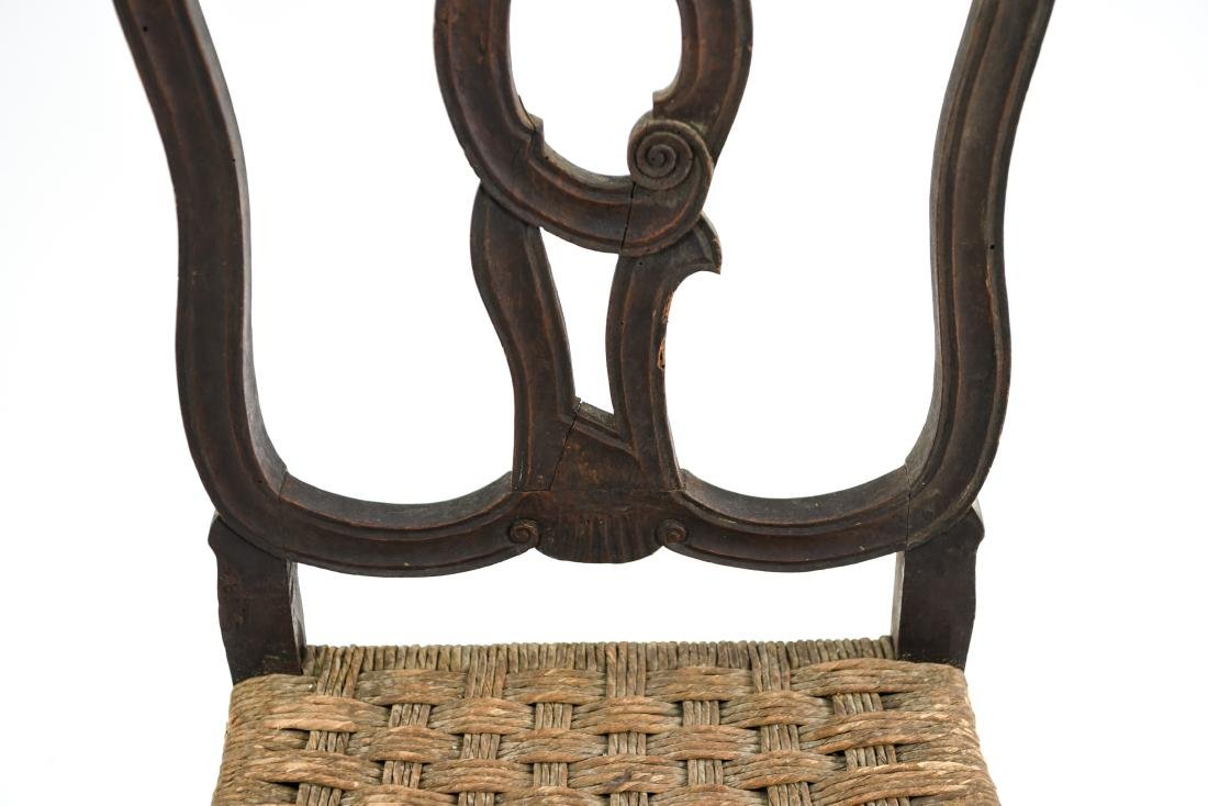 ANTIQUE CARVED SIDE CHAIR - 4