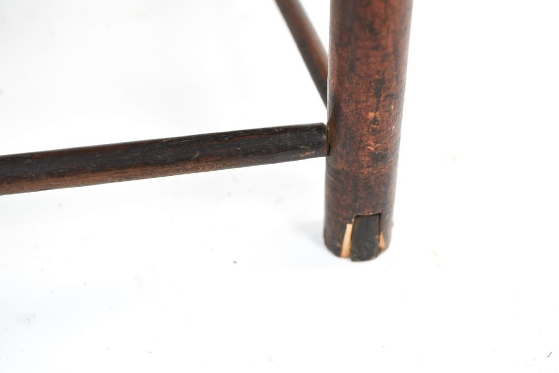 ANTIQUE LADDER BACK CHAIR - 10