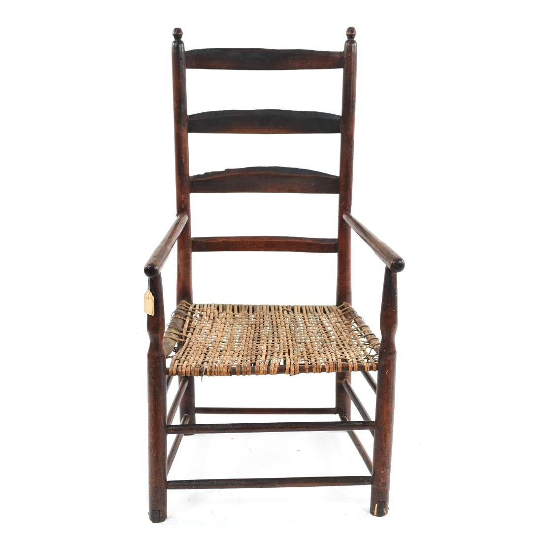 ANTIQUE LADDER BACK CHAIR