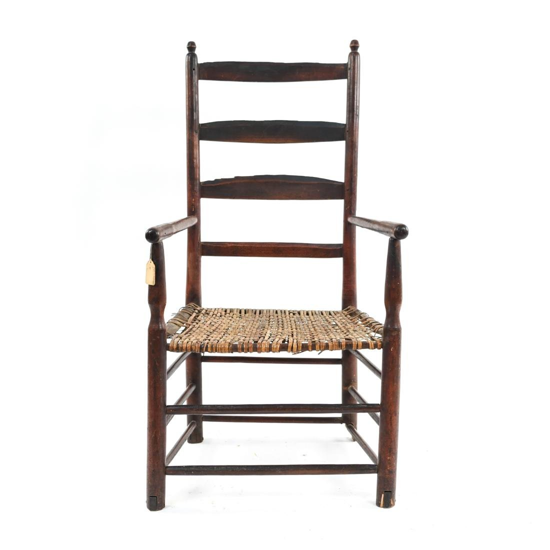 ANTIQUE LADDER BACK CHAIR - 2