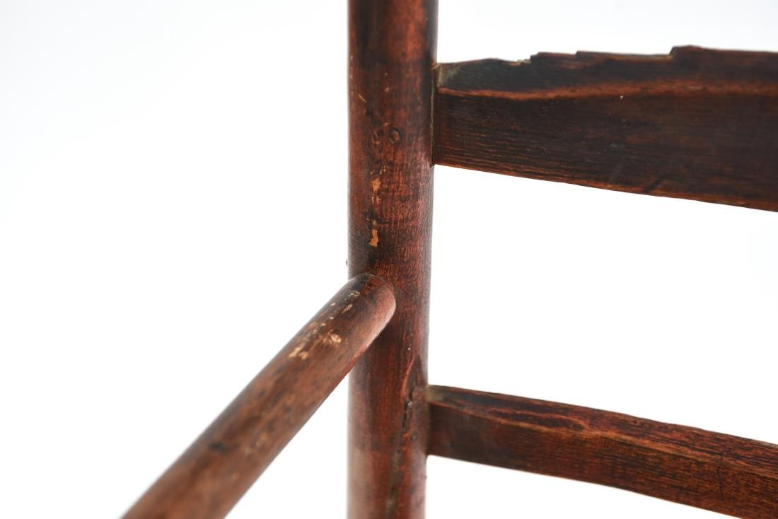 ANTIQUE LADDER BACK CHAIR - 6
