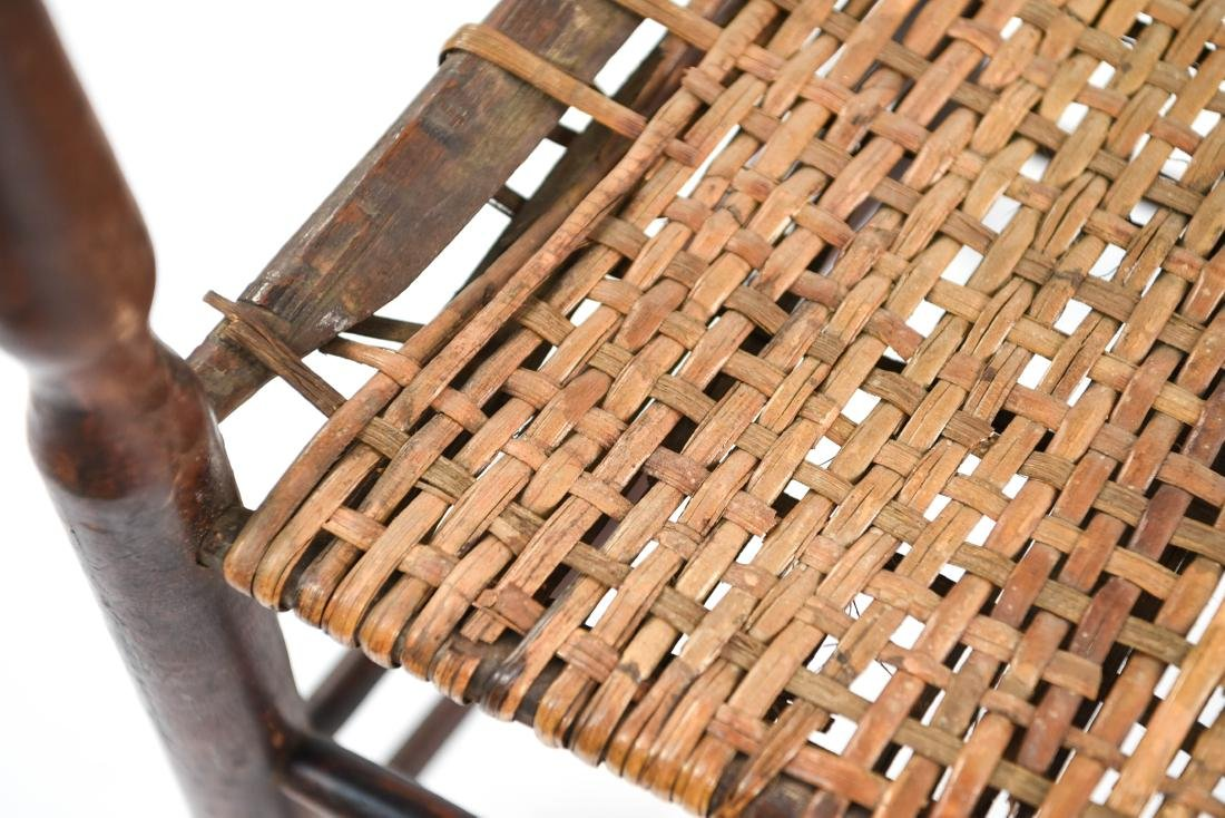 ANTIQUE LADDER BACK CHAIR - 7