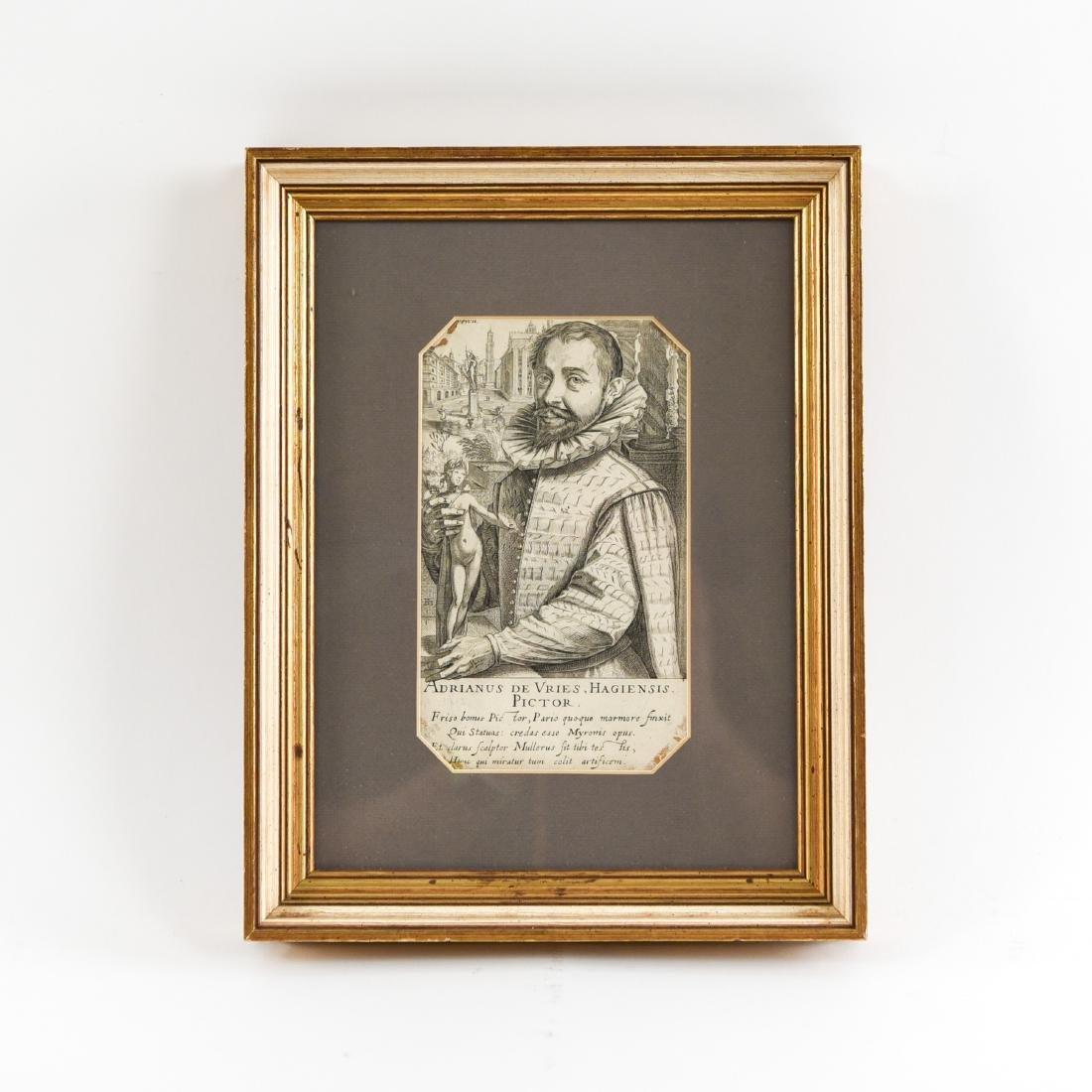 17TH C. ENGRAVING OF ADRIANUS DE VRIES