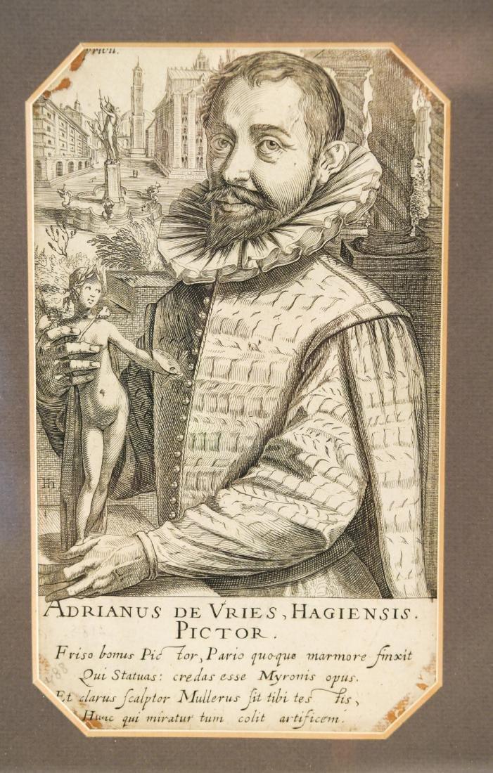 17TH C. ENGRAVING OF ADRIANUS DE VRIES - 2