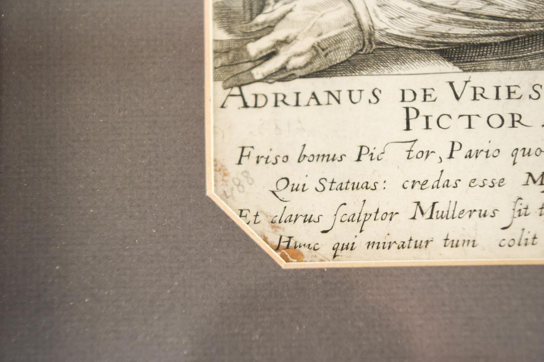 17TH C. ENGRAVING OF ADRIANUS DE VRIES - 8