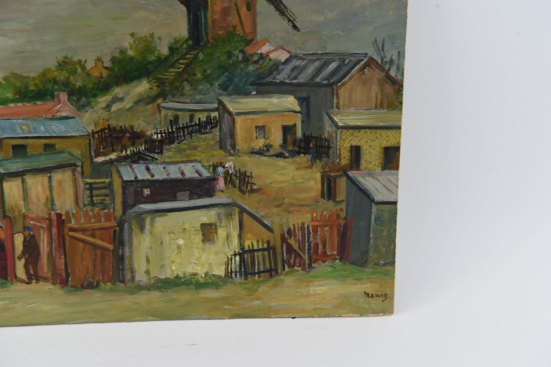 MAWIG (FRENCH 1890-1972) O/B WINDMILL ON A HILL - 4