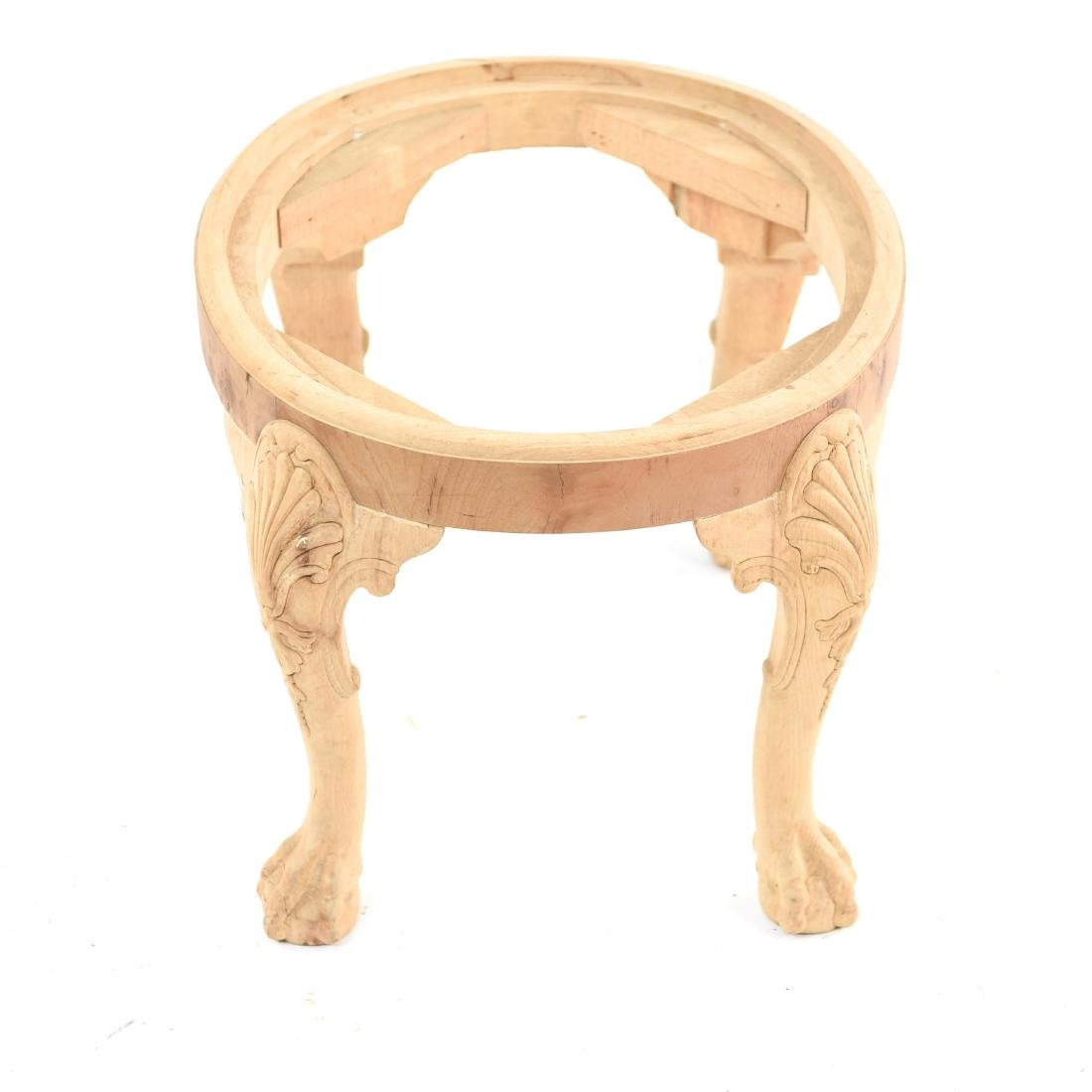 BALL AND CLAW FOOT CARVED SEAT OR BENCH BASE - 6