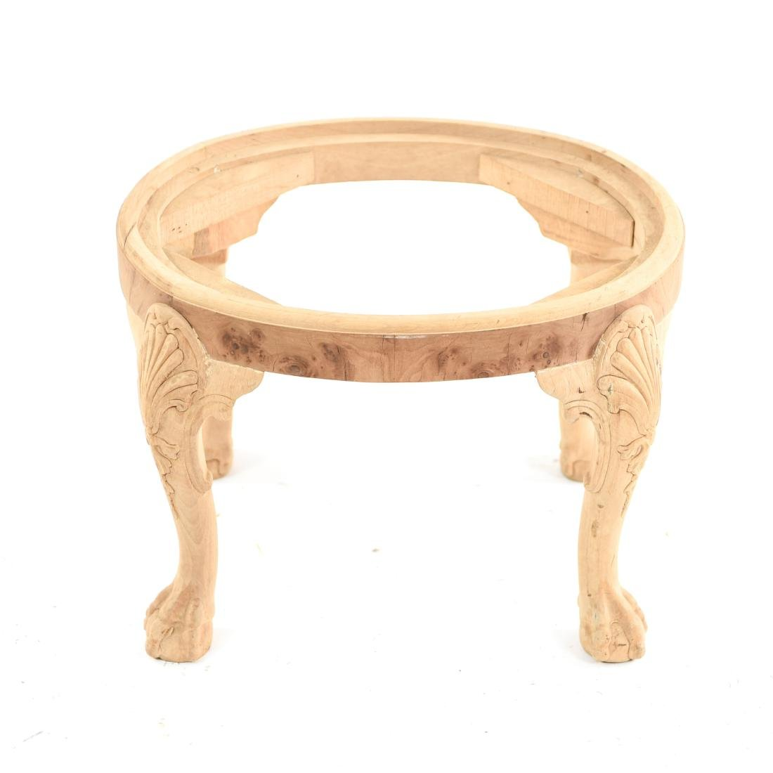 BALL AND CLAW FOOT CARVED SEAT OR BENCH BASE - 7