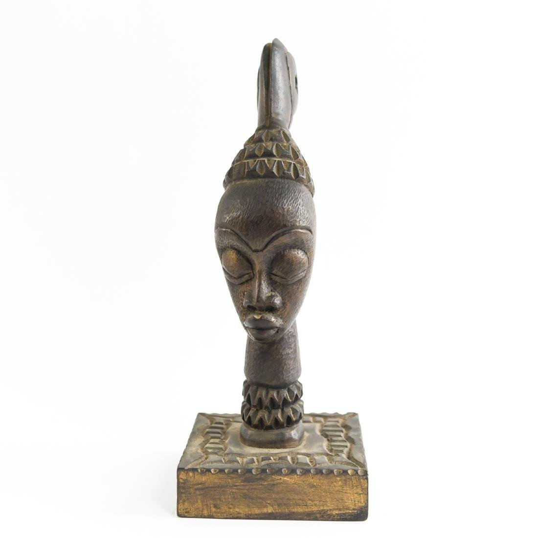 GROUPING OF HAITIAN CARVED WOODEN MASKS - 14