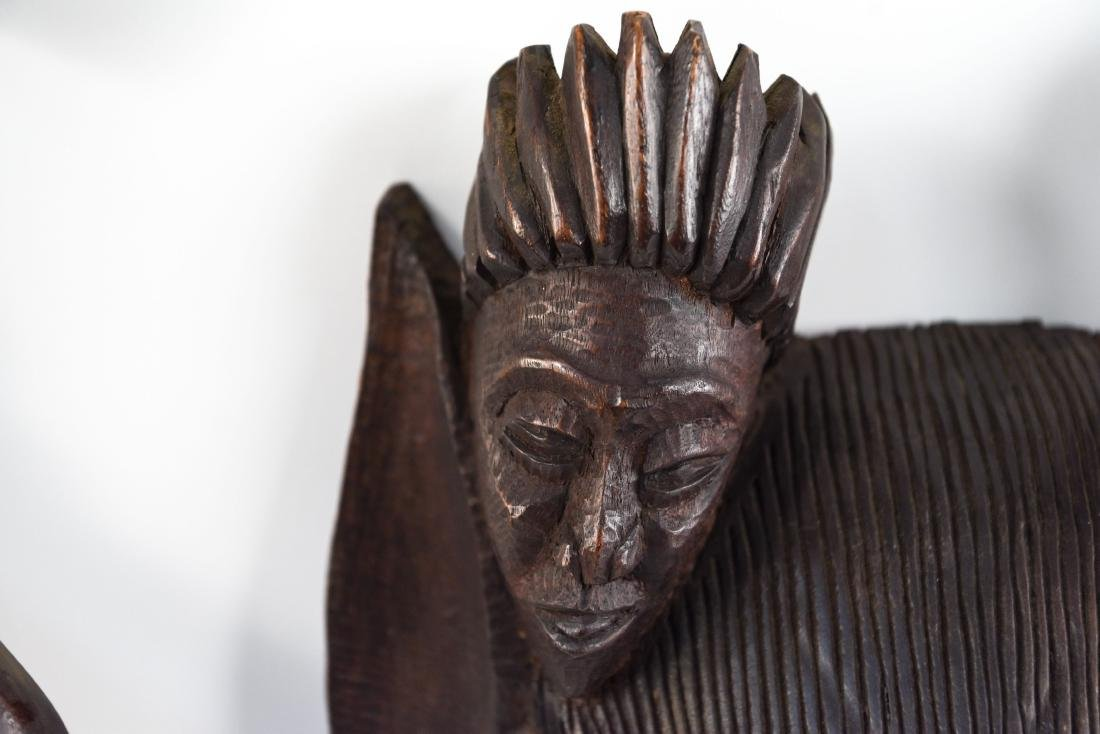 GROUPING OF HAITIAN CARVED WOODEN MASKS - 6