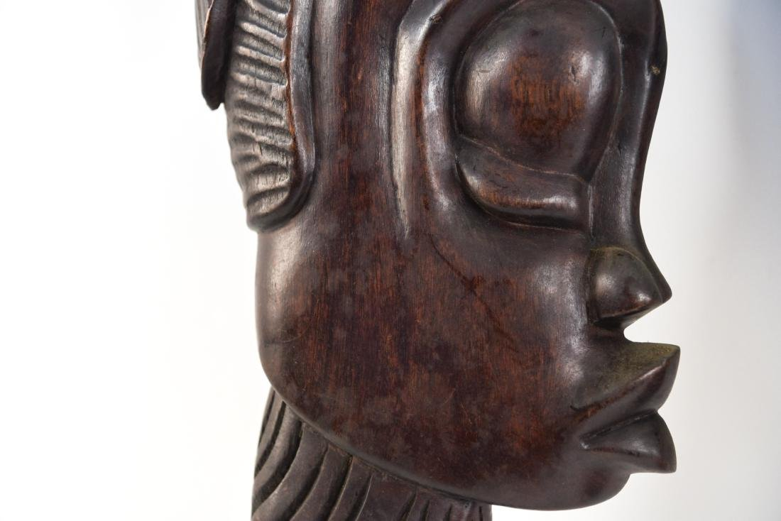 GROUPING OF HAITIAN CARVED WOODEN MASKS - 8