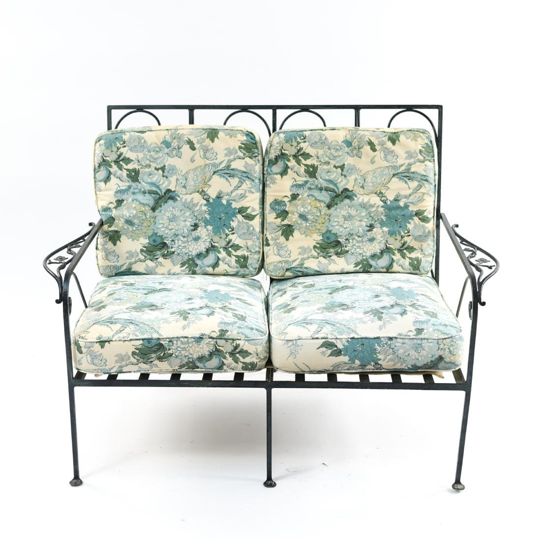 IRON TWO SEATER OUTDOOR LOVESEAT SOFA
